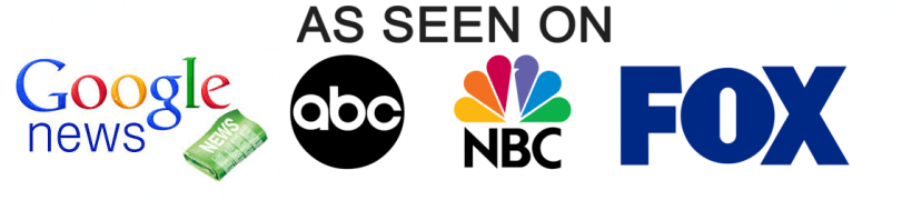 As Seen On Badge - FOX, ABC, NBC and Google News